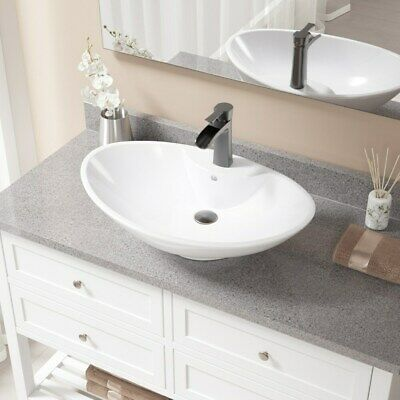 V2102 White Porcelain and Antique Bronze Pop-up Drain Sink