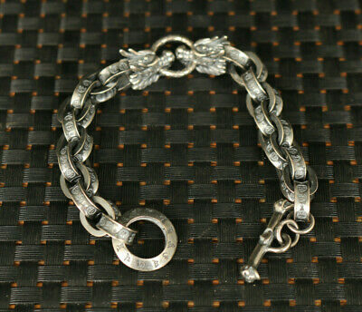 Fine S925 solid Silver dragon head Valuable Bracelet noble gift decorate