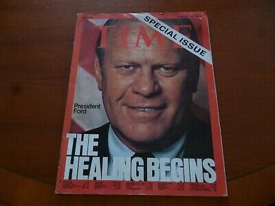 Time Magazine August 19 1974 President Gerald Ford *Terrible Condition Look*