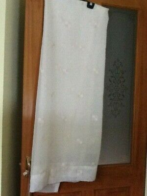 cream patterned single voile