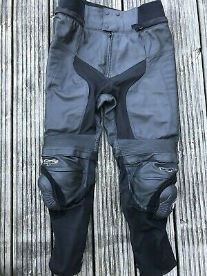 Furygan Veloce Mens Black Leather Motorcycle Trousers Pants 46