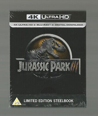 Jurassic Park Iii 3 - Uk Exclusive 4K Ultra Hd Blu Ray Steelbook - New & Sealed
