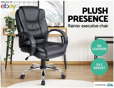 Artiss Executive Office Chair Computer Gaming Chairs Leather Seating Work Home