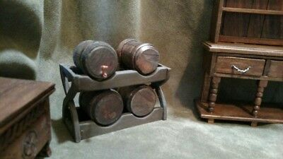 Dollhouse Miniature Tudor Medieval Celtic Knot carved Side Chairs Artisan Made