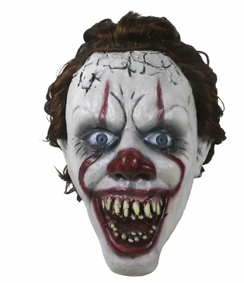 2019 Limited Pennywise It Chapter Two Cosplay Scary Halloween Face Mask Props