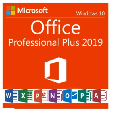 Microsoft Office 2019 Professional Plus Lifetime License Product Key Code