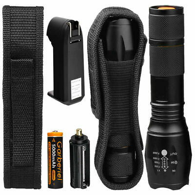 200000lm Genuine G700 LED Tactical Flashlight Military Grade Torch 18650 Light