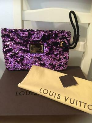 Louis Vuitton Motard Rococo Monogram pattern sequined clutch bag (P1696