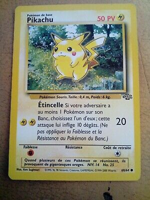 Carte Pokemon PIKACHU 60/64 Jungle Wizard Neuve Française EDITION 1
