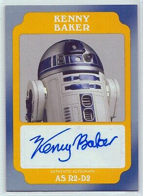 """2016 Star Wars Rogue One """"Kenny Baker as R2-D2"""" Gold Autograph Card 01/10"""
