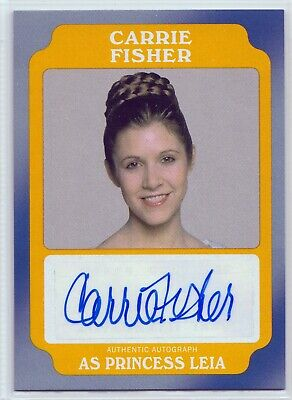 """2016 Star Wars Rogue One """"Carrie Fisher Princess Leia"""" Gold Autograph Card 05/10"""