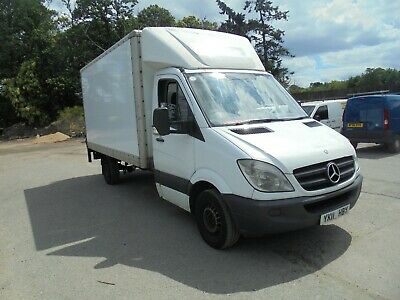 2011 11 Reg Mercedes Sprinter 313 Cdi Lwb 13 Ft Box Van Tail Lift No Reserve No