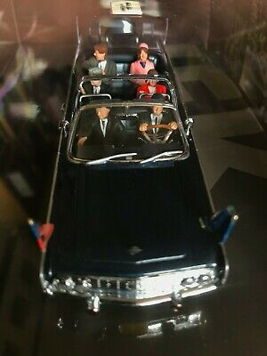JFK Kennedy assassination: rare minichamps X100 Lincoln car; dealey plaza