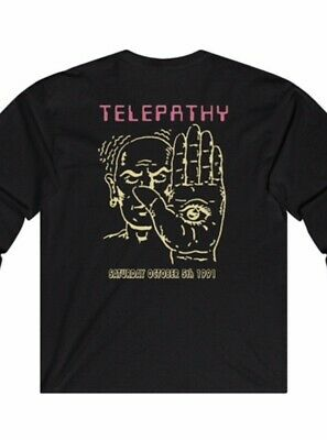 Telepathy 90s Hardcore Old School Rave T Shirt Black Ling Sleeve (all Sizes)