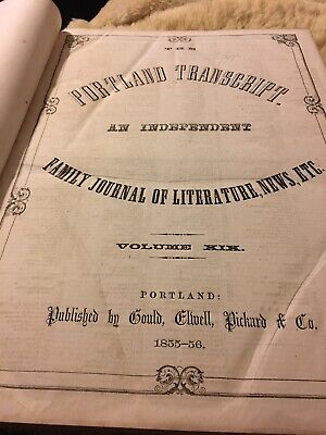 1855 Portland Transcript An Independent Family Journal Of Literature
