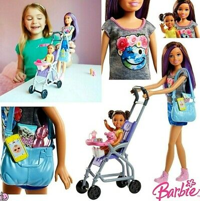 Barbie Babysitter Playset Skipper Doll With Stroller And Accessories Girls Dolls