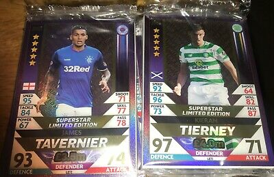 Match Attax 2018/19 Spfl - 2 Gold Super Star Limited Edition With 100 Cards