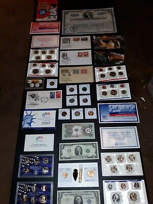COIN LOT BIG collection MINT SETS PROOF $2 vintage train SILVER C NO JUNK DRAWER