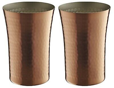 Made in Japan Beer tumbler 300ml Bamboo designs pure copper Set of 2 F/S New