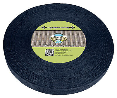 Country Brook Design® 1 Inch Navy Blue Polypro Webbing, 50 Yards