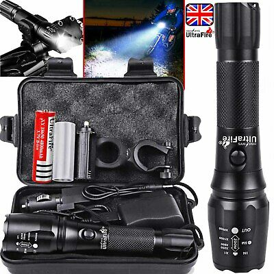 Rechargeable 350000LM Flashlight Zoom T6 LED Bike Light Torch Headlamp Cycling