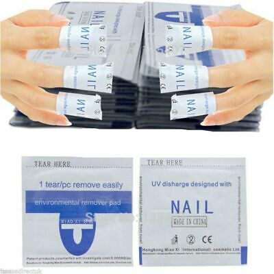 Nail Art Soak Off Remover Gel Polish Acrylic Removal Foil Wraps Pad H.O.T!