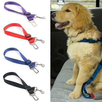 Pet Dog Adjustable SEAT BELT Travel Car Safety Harnesses Lead Restraint Strap