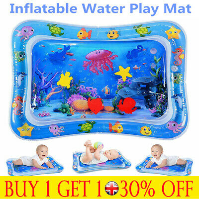 Tummy Time Baby Inflatable Water Play Mat Newborn Infant Toy 3-9 Month Toddler G
