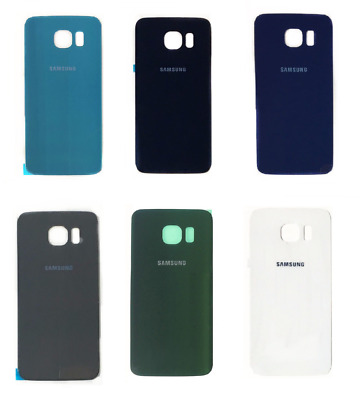 Back Battery Rear Glass Case Cover For Samsung Galaxy S6 & S6 Edge + Adhesive