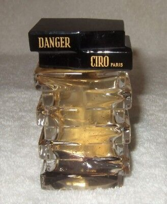 Baccarat Perfume Bottle Ciro Danger Perfume Bottle Art Deco Signed Baccarat