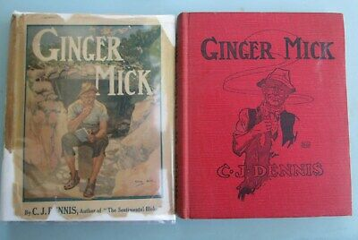 The Moods of Ginger Mick by C. J. Dennis 1916 1st Ed. Austrailia WWI Author.