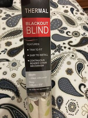 EASY FIT – Patterned Thermal BLACKOUT Trimmable,  Roller Blind / blinds