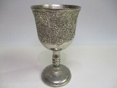 Antique Silver Plated Spanish Wine Goblet Solid Cup 19Th
