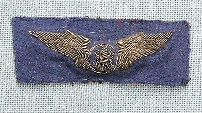 WWII U.S.A.A.F. Bullion Crewman Wings, English-made