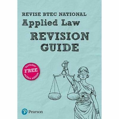 Revise BTEC National Applied Law Revision Guide - Mixed media product NEW Wortle