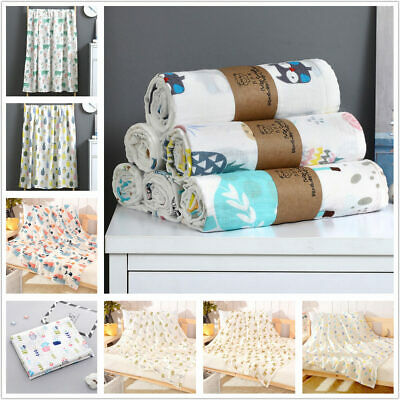 Soft Large Double layer Cotton Muslin addle Squares Blanket for Baby 110x120 cm