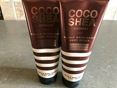 Bath & Body Works Coco Shea Coconut Body Scrub x2