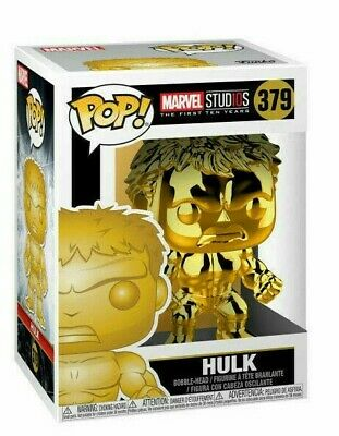 NEW Funko Pop Marvel Studios Incredible Hulk Gold Chrome Collectible Figure 379