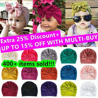 Infant Baby Beanie Hat Bow Knot Turban Cap Newborn Head Wraps Kids Knot Headband