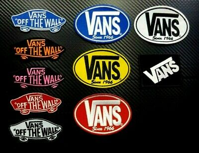 10 pcs VANS OFF WALL Wholesale Embroidered Iron Sew On Patch Logo Mix SKATEBOARD