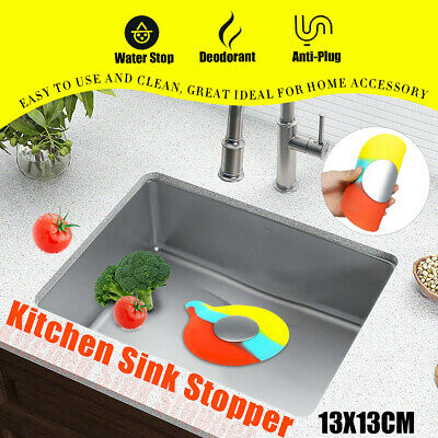 Universal Colorful Silicone Floor Drain Water Stopper Plug Kitchen Bathtub Sink