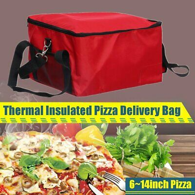 6~14inch Thermal Insulated Bag Pizza Food Pizza Delivery Picnic Storage Holder !
