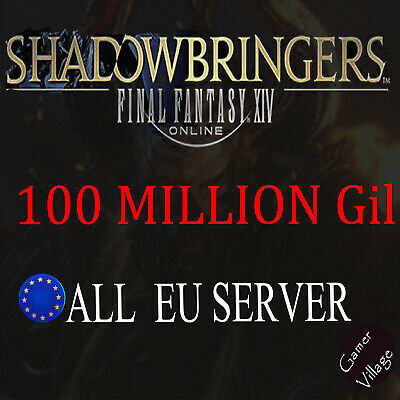 Final Fantasy XIV FFXIV Gil EU Server 100,000K 100 Million 100M FF14 Gil PC PS4