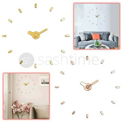 3D DIY Large Number Mirror Wall Clock Sticker Decor for Home Office Kids Room