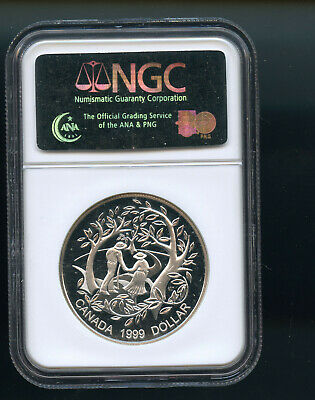 1999 Canada Silver $1 Year Of Older Person Ngc Pf-69 Uc (Uhc) Co138