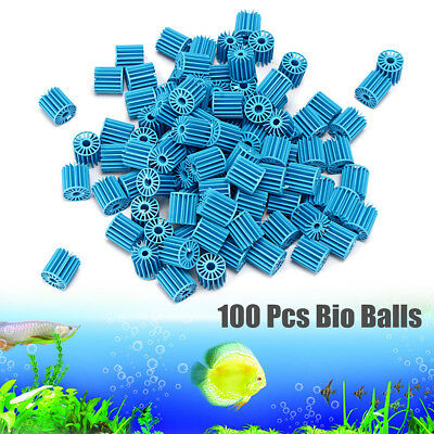 100Pcs Bag Aquarium Pond Bio Ball Canister Clean Water Fish Tank Filter Media