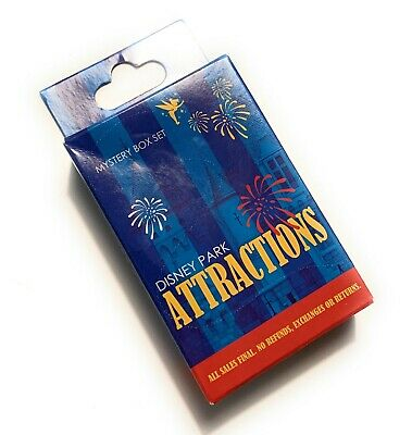 Disney Parks Attractions Collectible 2 Pin Mystery Box Pack Sealed - NEW