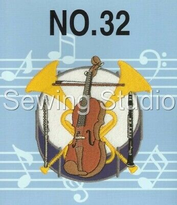 Brother #32 - Musical Instruments Designs - M/C Embroidery Designs On Cd Or Usb