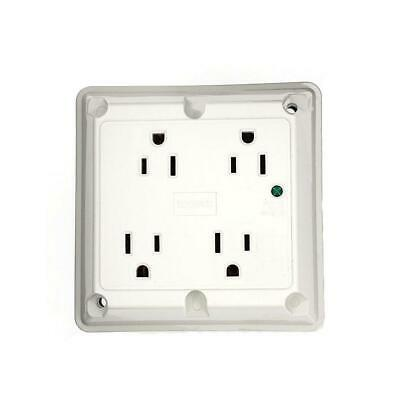 Leviton 15 Amp Industrial Grade Heavy Duty 4-in-1 Grounding Surge Outlet