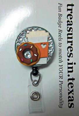 Donut Fear The Speech-Language Pathologist Is Here Retractable ID Badge Reel